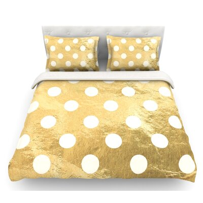 Scattered  Featherweight Duvet Cover Color: Gold, Size: Queen