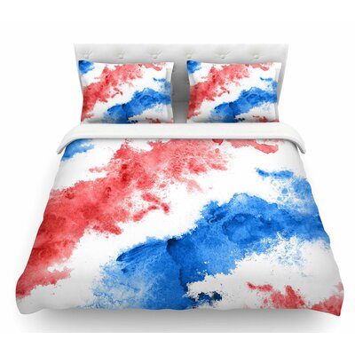 Patriotic Watercolor  Featherweight Duvet Cover Size: Twin