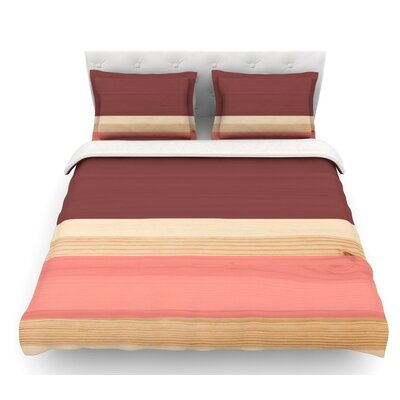 Spring Swatch  Featherweight Duvet Cover Color: Red/Pink, Size: Twin