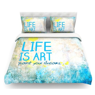 Life is Art  Featherweight Duvet Cover Size: Twin