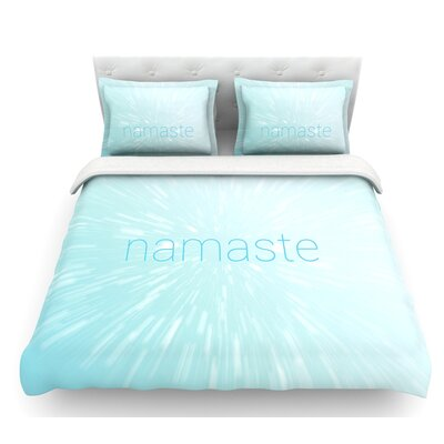 Namaste  Featherweight Duvet Cover Size: Twin