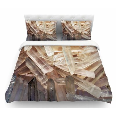 Crystal Cluster  Featherweight Duvet Cover Size: Queen