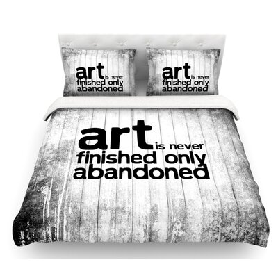 Art Never Finished  Featherweight Duvet Cover Size: Queen