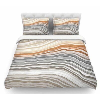 Vernal Pools  Featherweight Duvet Cover Size: Twin