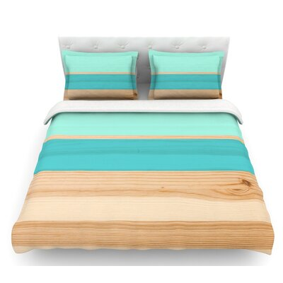 Spring Swatch  Featherweight Duvet Cover Size: Queen, Color: Blue/Green/Teal