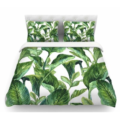 Banana Leaves  Featherweight Duvet Cover Size: Twin