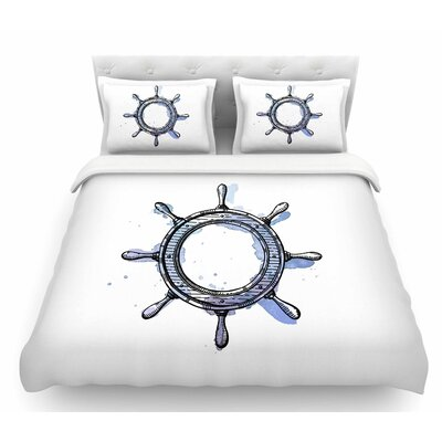 Ships Helm  Featherweight Duvet Cover Size: Queen