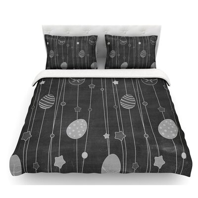 Chalk Eggs  Eggs Featherweight Duvet Cover Size: Twin