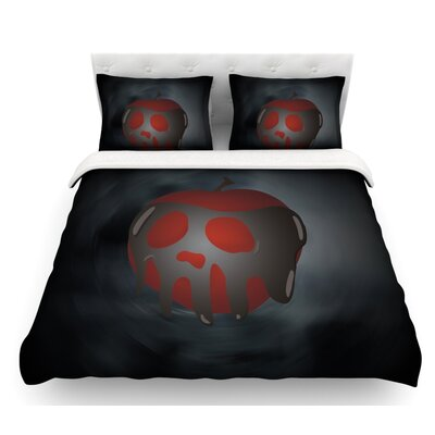 One Last Bite  Poison Apple Featherweight Duvet Cover Size: Queen, Fabric: Cotton