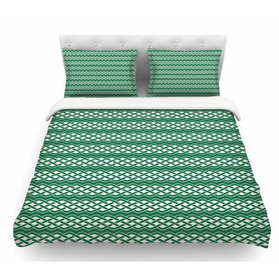 Celtic Texture  Featherweight Duvet Cover Size: Queen