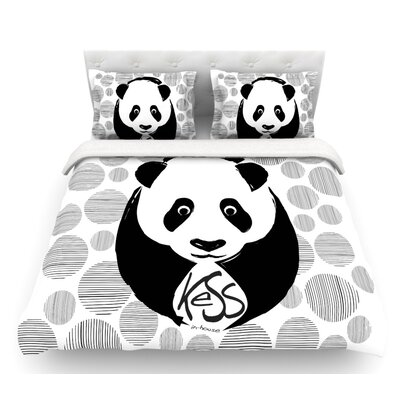 Panda  Featherweight Duvet Cover Size: Twin