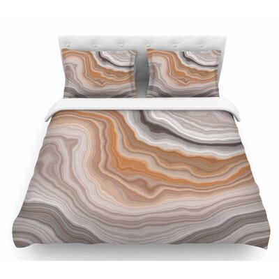 Burnt  Geological Featherweight Duvet Cover Size: Queen