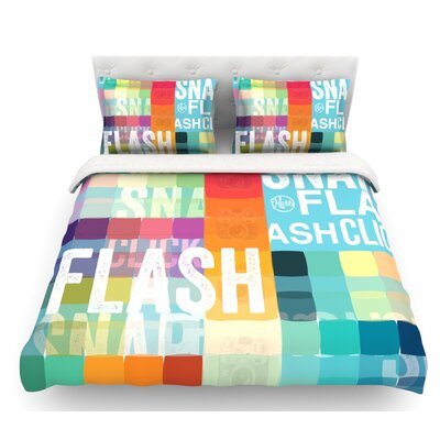 Flash  Featherweight Duvet Cover Size: Twin, Fabric: Lightweight Polyester