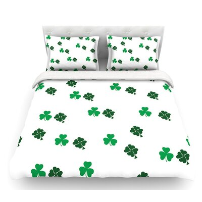 Shamrockin  St. Patrick Featherweight Duvet Cover Size: Twin