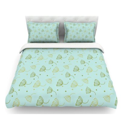 Floating Dandelion  Featherweight Duvet Cover Size: Twin