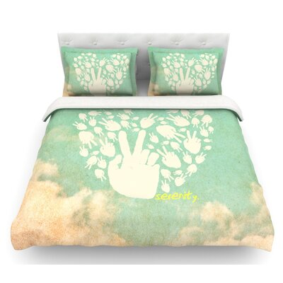 Serenity  Featherweight Duvet Cover Size: King, Fabric: Lightweight Polyester