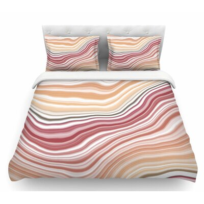 Sunset Brick Featherweight Duvet Cover Size: Queen