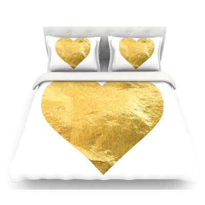 Heart  Featherweight Duvet Cover Size: Queen