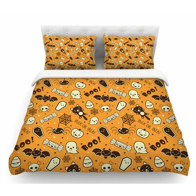 All Cute Halloween  Featherweight Duvet Cover Size: King
