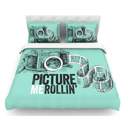 Picture Me Rollin  Featherweight Duvet Cover Size: Queen