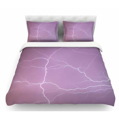 Pastel Lightning  Pastel Featherweight Duvet Cover Size: Queen