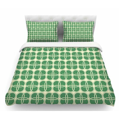 Celtic Crosses  Featherweight Duvet Cover Size: Queen