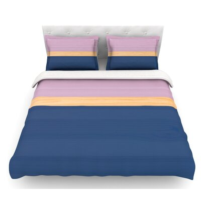 Spring Swatch  Featherweight Duvet Cover Size: Queen, Color: Blue/Lavender/Purple