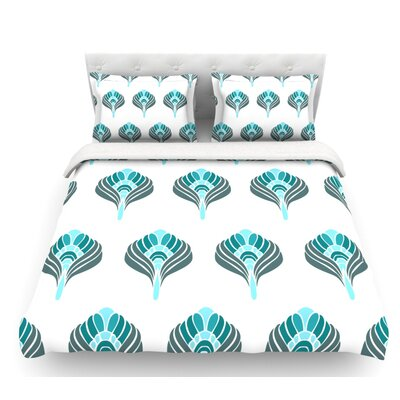 Peacock  Featherweight Duvet Cover Size: Queen