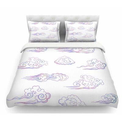 Cloud Poofs  Featherweight Duvet Cover Size: Queen
