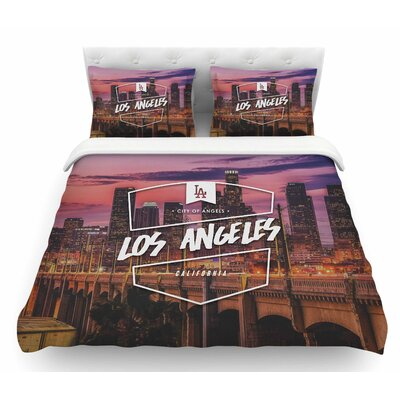Los Angeles Ll  Featherweight Duvet Cover Size: Queen