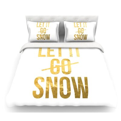Let it Snow  Featherweight Duvet Cover Size: King