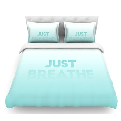 Just Breathe  Featherweight Duvet Cover Size: Twin