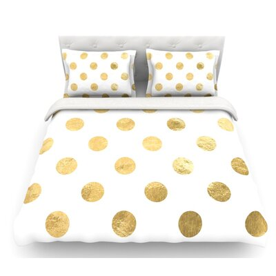 Scattered  Featherweight Duvet Cover Size: King, Color: White