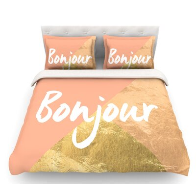 Bonjour  Featherweight Duvet Cover Size: Queen