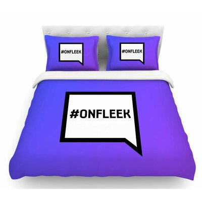 On Fleek  Featherweight Duvet Cover Size: Queen