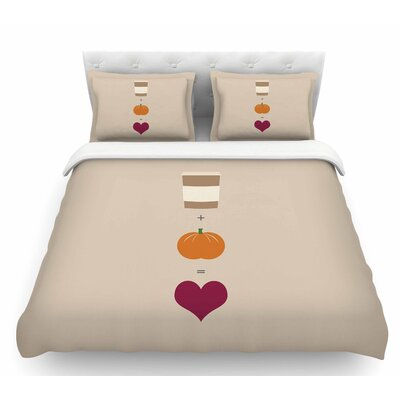 Pumpkin Spice Latte  Featherweight Duvet Cover Size: Twin