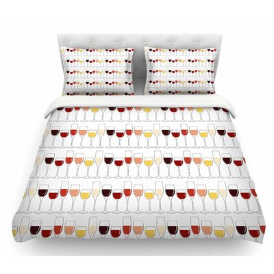 Fine Wines  Featherweight Duvet Cover Size: Queen