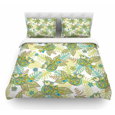 Summer Birds by Julia Grifol Featherweight Duvet Cover Size: King