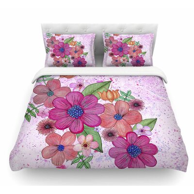 My Garden by Julia Grifol Floral Featherweight Duvet Cover Size: Queen