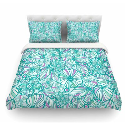 My Flowers by Julia Grifol Featherweight Duvet Cover Size: Queen