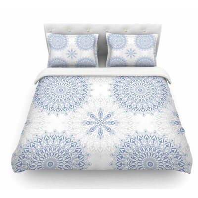 Mandalas by Julia Grifol Vector Geometric Featherweight Duvet Cover Size: King