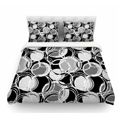 Simple Circles by Julia Grifol Featherweight Duvet Cover Size: Queen