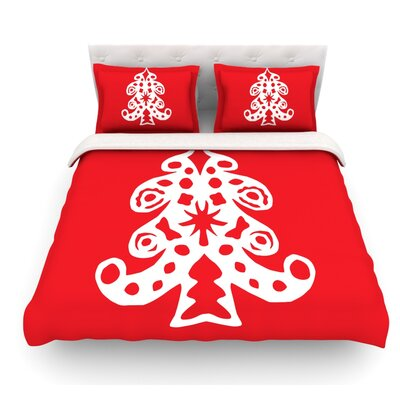 Noble Pine by Miranda Mol Holiday Featherweight Duvet Cover Size: King