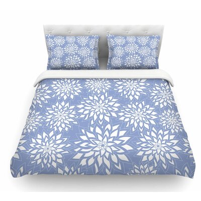 Garden by Julia Grifol Featherweight Duvet Cover Color: Blue/Aqua, Size: Queen