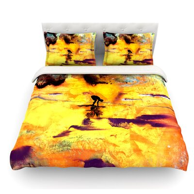 Pool of Life by Josh Serafin Abstract Featherweight Duvet Cover Size: Queen