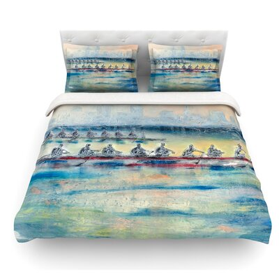 Crew by Josh Serafin Rowing Featherweight Duvet Cover Size: Queen