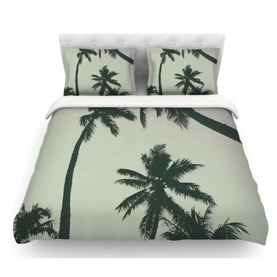 Rise of Palms by Mary Carol Fitzgerald Photography Featherweight Duvet Cover Size: King