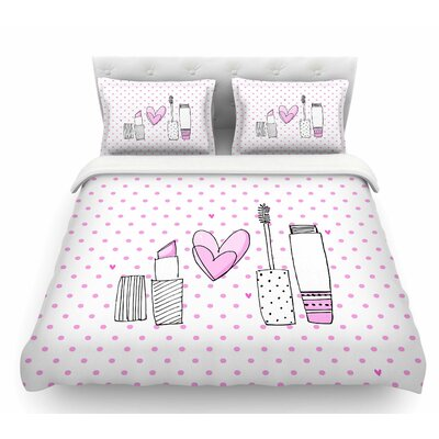 Girls Luv by MaJoBV Makeup Featherweight Duvet Cover Size: Queen