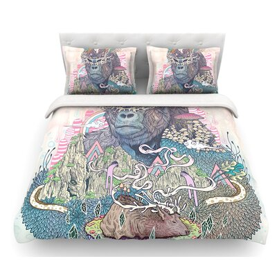 Ceremony by Mat Miller Fantasy Gorilla Featherweight Duvet Cover Size: King
