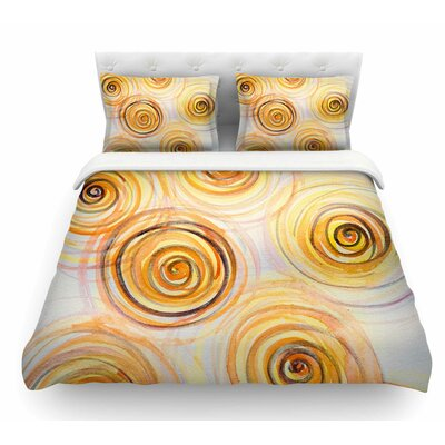 Spirals by Maria Bazarova Featherweight Duvet Cover Size: King